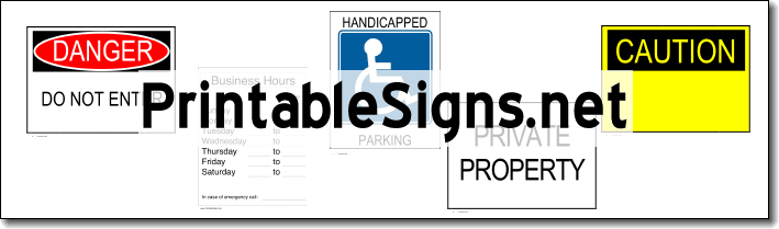 Printable Signs