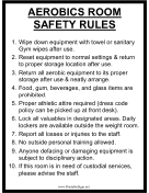 Aerobics Room Safety Rules