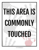 Area Is Commonly Touched