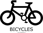 Bicycles with caption