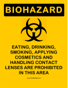 Biohazard Dont Store Food
