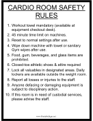 Cardio Room Safety Rules