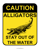 Caution Alligators
