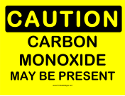 Caution Carbon Monoxide