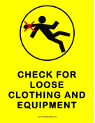 Check For Loose Clothing