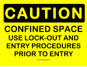 Caution Confined Space Procedures