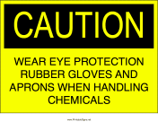 Chemical Safety Precautions