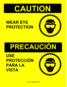 Eye Protection Bilingual