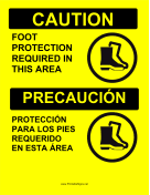 Foot Protection Required Bilingual