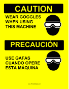 Goggles Required Bilingual