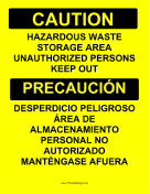 Haz Waste Storage Bilingual