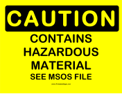 Caution Hazmat