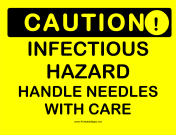 Caution Infectious Hazard