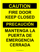 Keep Firedoor Closed Bilingual