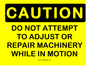 Caution Machinery