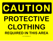 Caution Protective Clothing