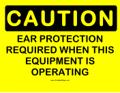 Caution Required Ear Protection