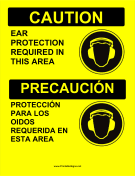 Required Ear Protection Bilingual