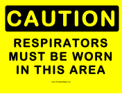 Caution Respirators