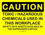 Caution Toxic Hazmat