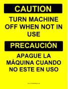 Turn Machine Off Bilingual