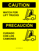 Watch For Forklifts Bilingual