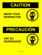 Wear Respirator Bilingual