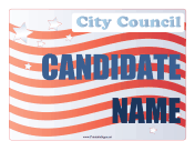 City Council Campaign Sign