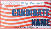 City Council Sign Palm Cards