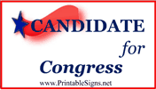 Congress Sign Palm Cards