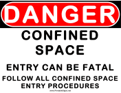 Danger Confined Space Can be Fatal