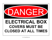 Danger Electrical Box