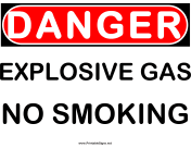 Danger Explosive Gas 2