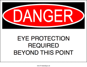 Eye Protection Required Beyond This Point