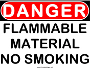 Danger Flammable Material