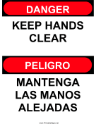 Keep Hands Clear Bilingual