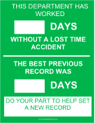 Department Safety Record