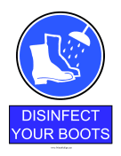 Disinfect Boots