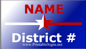 District Sign Palm Cards