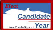 Eagle Election Sign Palm Cards