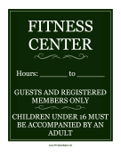 Fitness Center Sign