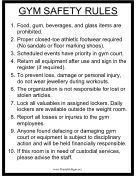 Gym Safety Rules