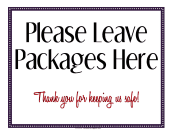 Leave Packages Here