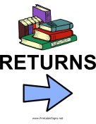 Library Returns - Right