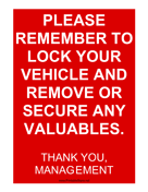 Secure Your Vehicle