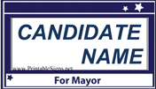 Mayor Campaign Sign Palm Cards