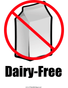 Milk Allergy (Dairy-Free)