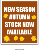 Autumn Stock Now Available