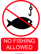 No Fishing Allowed