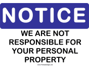 Notice Personal Property
